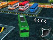 Autobús hombre Aparcamiento 3d